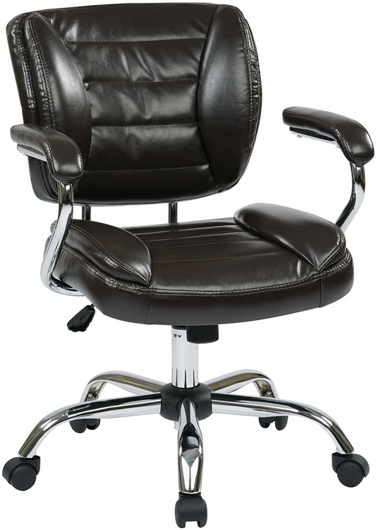 tufted faux leather office chair st52052ca
