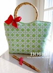 New! Bamboo Insulated Lunch Tote