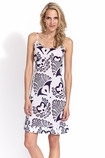 Kerry Cassill Slip dress in navy ikat print FINAL SALE