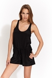 Rory Beca Adonis racerback romper in black FINAL SALE