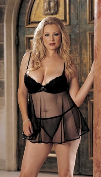 X20409-A  CLASSIC LACE BABYDOLL
