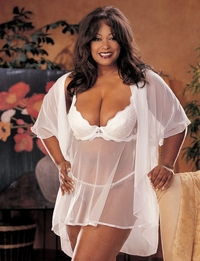 X3175-B SCALLOPED EMBROIDERY AND SHEER NET BABY DOLL
