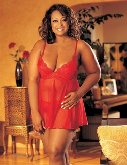 X3175-C SCALLOPED EMBROIDERY AND SHEER NET BABY DOLL