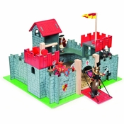 Le Toy Van Wooden Red Camelot Castle by Hotaling
