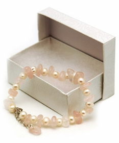 Rose Quartz and Pearl Fertility Bracelet