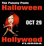 HOLLYWOOD, FL - SATURDAY, OCTOBER 29TH, 2016, 10:00pm - The Punany Poets' Midnight with The Head Doctor starring Punany founder, Jessica Holter