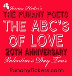 WASHINGTON, DC, SUNDAY, FEB 15TH, 2015, 8:00PM - Jessica Holter proudly presents The Punany Poets' The ABC's of Love 20 Year Anniversary Celebration in Washington, DC hosted by LOVE the poet