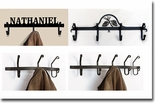 COAT RACKS / BARS & HOOKS, WROUGHT IRON