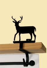Curtain Shelf Brackets - Wrought Iron - Deer Silhouette