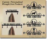 CUSTOM / PERSONALIZED HOUSE PLAQUES / SIGNS, COAT RACKS