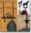 WALL HOOKS, WREACH HANGERS, WROUGHT IRON, DECORATIVE