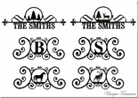 HOUSE PLAQUES / SIGNS, MONOGRAMS, CUSTOM, WROUGHT IRON