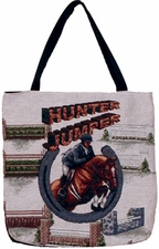 Hunter / Jumper, Tapestry Style Horse Tote Bag