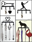 KEY CHAIN HOLDERS, LEASH HOOKS, WROUGHT IRON