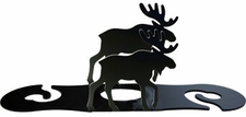 Moose - Wine for Two - Wrought Iron Wine Glass Caddy