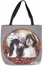 Shih-Tzu, Tapestry Style Dog Breed Tote Bag