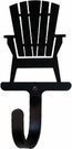 Small Decorative Wrought Iron Wall Hook - Adirondack Chair
