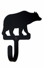 Small Decorative Wrought Iron Wall Hook - Bear