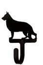 Small Decorative Wrought Iron Wall Hook - Dog, German Shepherd