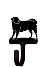 Small Decorative Wrought Iron Wall Hook - Dog, Labrador