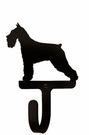Small Decorative Wrought Iron Wall Hook - Dog, Schnauzer