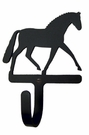 Small Decorative Wrought Iron Wall Hook - Dressage Horse