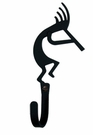 Wall Hook, Kokopelli, Wrought Iron, Small