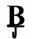 Wall Hook, Letter B, Alphabet, Wrought Iron, Small