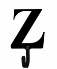Wall Hook, Letter Z, Alphabet, Wrought Iron, Small