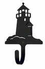 Small Decorative Wrought Iron Wall Hook - Lighthouse