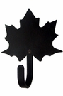 Small Decorative Wrought Iron Wall Hook - Maple Leaf