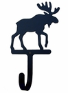 Small Decorative Wrought Iron Wall Hook - Moose