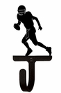 Small Decorative Wrought Iron Wall Hook - Sport, Football Player