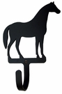 Small Decorative Wrought Iron Wall Hook - Standing Horse