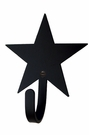 Small Decorative Wrought Iron Wall Hook - Star