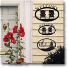 WELCOME SIGNS, PLAQUES, WROUGHT IRON