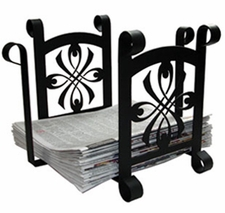 Magazine Rack, Newspaper Recycle Bin, Wrought Iron, Ribbon, Bow