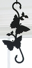 Wrought Iron Plant Hanger-Decorative S-Hook - Butterfly