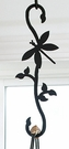 Wrought Iron Plant Hanger-Decorative S-Hook - Dragonfly