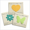 Personalized Plantable Bridal Shower Favor Cards - Pack of 12