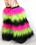 6-Tone GoGo Fluffies UV Hot Pink, Lime Green, Black
