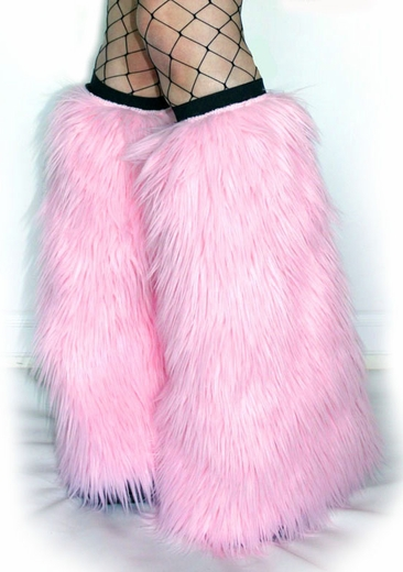 Baby Pink Fluffies Leg Warmers