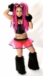 Black and Clear UV Hot Pink Vinyl Outfit