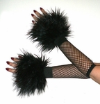 Black Furry Wrist Cuffs