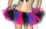 Black Hot Pink Lavender Rave TuTu