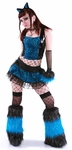 Blue Spotted Rave Kitty Outfit and Fluffies