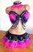 Cheshire Cat Rave Outfit - Bra, Skirt, Collar