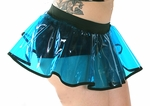 Clear UV Blue vinyl cyber skirt