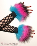 Custom Glitter 3 Tone Furry Wrist Cuffs - Choose Your Colors!