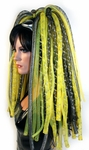 Cyber Dreads UV Yellow and Black Cyberlox Falls